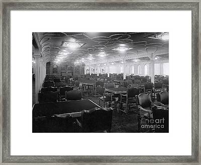 Titanic's First Class Dining Room Framed Print