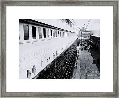 Titanic's First-class Gangway Framed Print by The Titanic Project