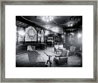 Titanic's First Class Smoking Room Framed Print by The Titanic Project