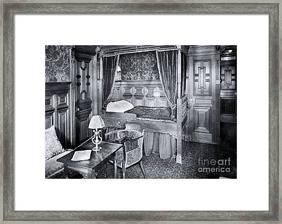 Titanic's First Class Stateroom B59 Framed Print by The Titanic Project