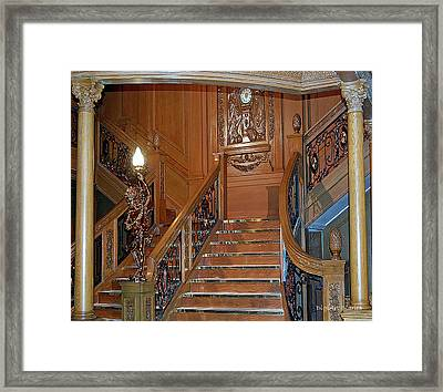 Titanics Grand Staircase Framed Print by DigiArt Diaries by Vicky B Fuller