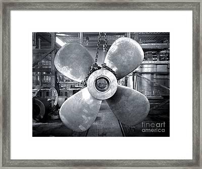 Titanic's Propellers Framed Print