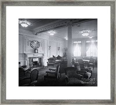 Titanic's Reading And Writing Room Framed Print