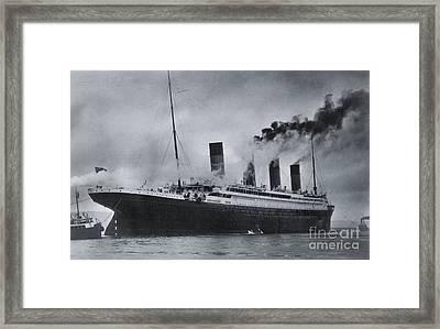 Titanic's Sea Trials Framed Print