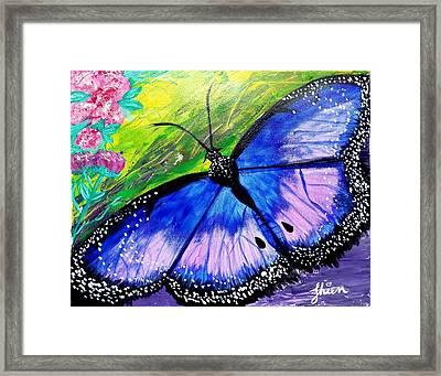 Titanium Butterfly Framed Print