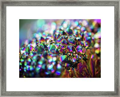 Titanium Rainbow Quartz Cluster Close Up #1 Framed Print by Jennifer Rondinelli Reilly - Fine Art Photography