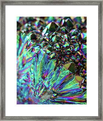 Titanium Rainbow Quartz Cluster Close Up #3 Framed Print by Jennifer Rondinelli Reilly - Fine Art Photography