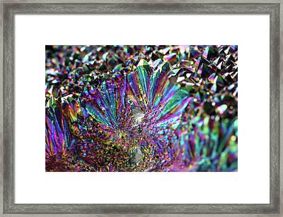Titanium Rainbow Quartz Cluster Close Up #5 Framed Print by Jennifer Rondinelli Reilly - Fine Art Photography