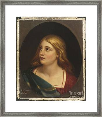 Title A Light Haired Woman Framed Print