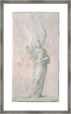 Title An Angel Swinging A Censer Framed Print by MotionAge Designs