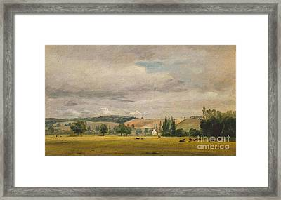 Title Dedham Vale With The House Called Framed Print