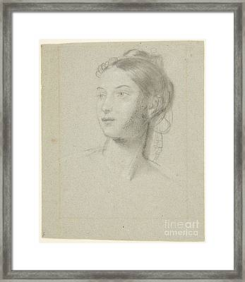 Title Female Head For Mother Watching Her Sleeping Framed Print by MotionAge Designs