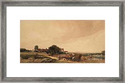 Title Harvest Time, Lancashire Framed Print