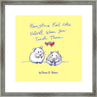 Framed Print featuring the drawing Title Page For Hamster Book by Denise Fulmer