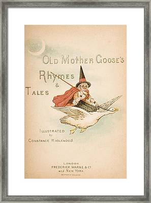 Title Page Illustration From Old Mother Framed Print by Vintage Design Pics