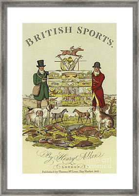 Title Page Of British Sports Framed Print