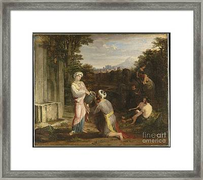 Title Rebecca At The Well Framed Print