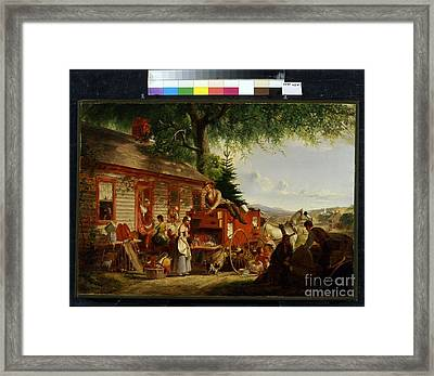 Title The Yankee Peddler Framed Print
