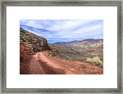 Titus Canyon Road Framed Print by Charles Dobbs