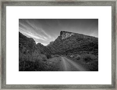 Titus Canyon Road Framed Print by Peter Tellone