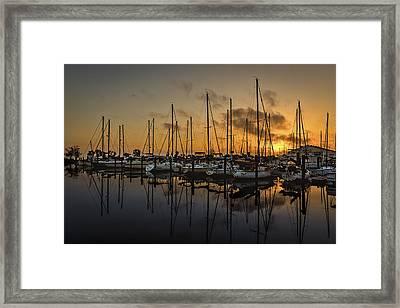 Titusville Marina Framed Print