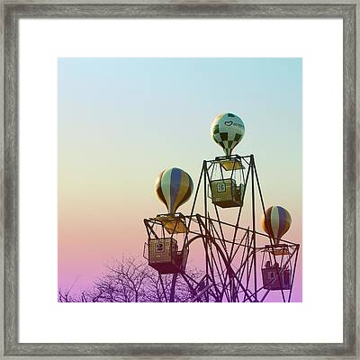 Tivoli Balloon Ride Framed Print by Linda Woods