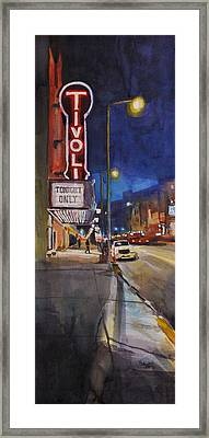 Tivoli Theatre Framed Print by Spencer Meagher
