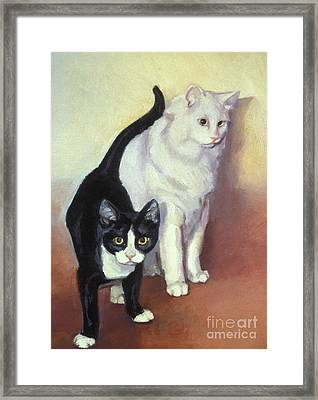 Tj And Ozzie Framed Print by Natasha Harsh