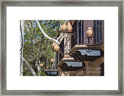 Framed Print featuring the photograph Tlaquepaque Balconies by Chris Dutton
