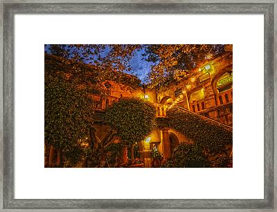 Tlaquepaque Evening Framed Print