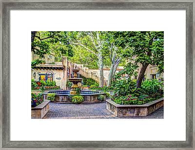 Tlaquepaque Shopping Village -  Sedona  Arizona Framed Print by Jon Berghoff