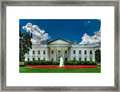 Tlhe White House Framed Print by Don Lovett