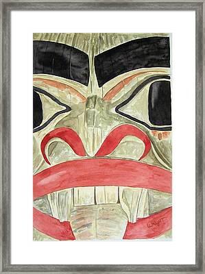 Tlingit Clan Beaver Framed Print by Larry Wright
