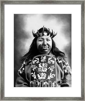 Tlingit Native American, C1906 Framed Print by Granger