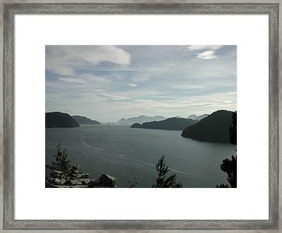 Tlupana Inlet Overlook Framed Print