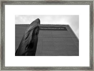 Framed Print featuring the photograph Tampa Museum Of Art Work A by David Lee Thompson