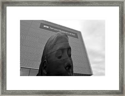 Framed Print featuring the photograph Tampa Museum Of Art Work B by David Lee Thompson
