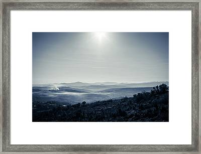To A Peaceful Valley Framed Print by Andrea Mazzocchetti