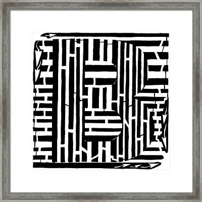 To B Or Not To B Framed Print by Yonatan Frimer Maze Artist