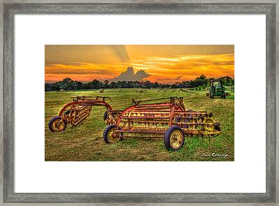 To Be Continued Hayfield Sunset Framed Print by Reid Callaway