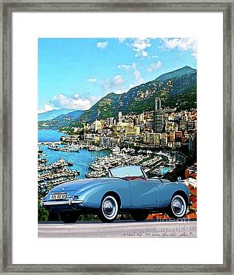 Alfred Hitchcock's,  To Catch A Thief - 1953 Sunbeam Alpine Mk1, Mixed Media Framed Print by Thomas Pollart