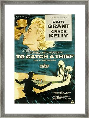 To Catch A Thief, Poster Art, Cary Framed Print