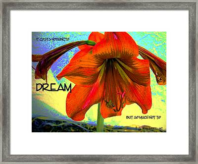 To Dream Framed Print by Irma BACKELANT GALLERIES