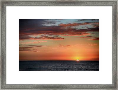 To End My Day With You Framed Print