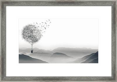 To Fly Only For A Moment Framed Print