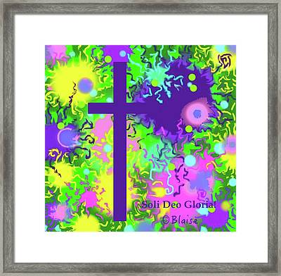 To God Be The Glory Framed Print