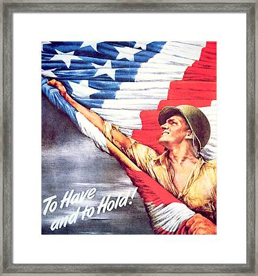 To Have And To Hold Framed Print by American School