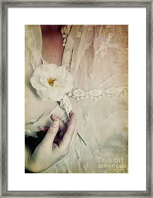 To Hold A Rose So Sweet Framed Print