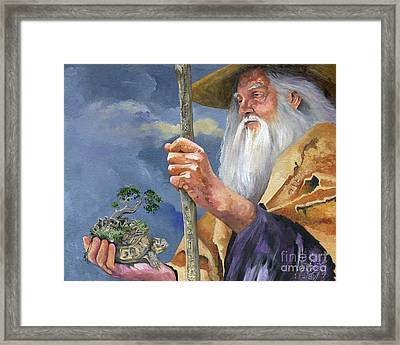 To Hold The World In The Palm Of Your Hand Framed Print by J W Baker