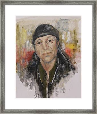 To Honor John Trudell Framed Print